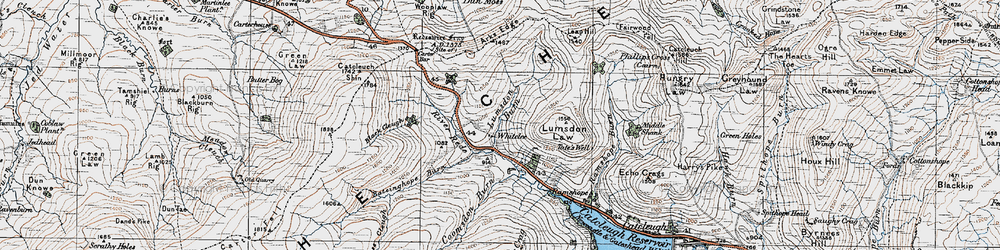 Old map of Whitelee in 1926