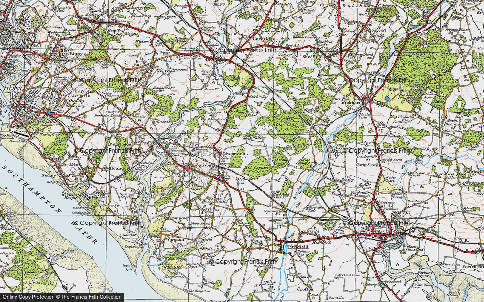 Old Map of Whiteley, 1919 in 1919