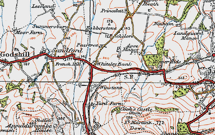Old map of Whiteley Bank in 1919