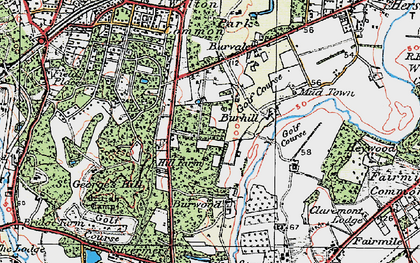 Old map of Whiteley Village in 1920