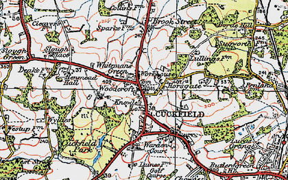 Old map of Whitemans Green in 1920