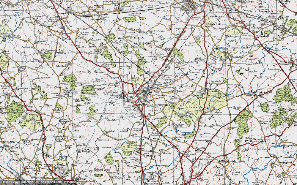 Old Map of Whitemoor, 1919 in 1919