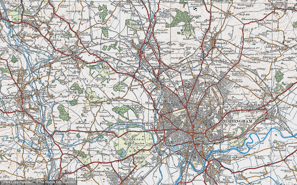 Old Map of Whitemoor, 1921 in 1921