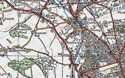 Old map of Whitemoor in 1921