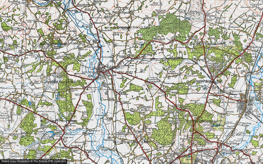 Old Map of Whitenap, 1919 in 1919