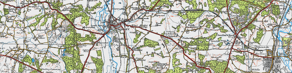 Old map of Whitenap in 1919