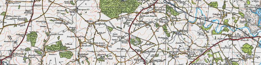 Old map of Whiteoak Green in 1919