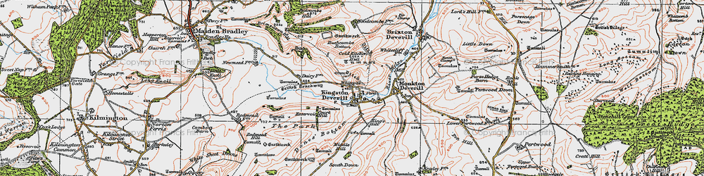 Old map of Whitepits in 1919