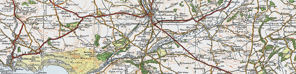 Old map of Whiterock in 1922