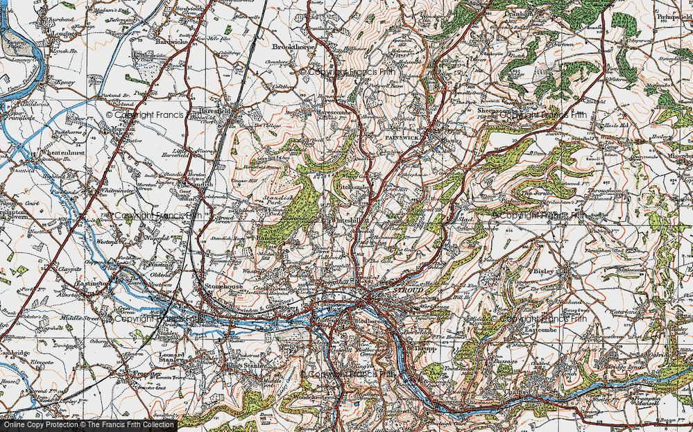 Old Map of Whiteshill, 1919 in 1919