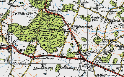 Old map of Whitesmith in 1920
