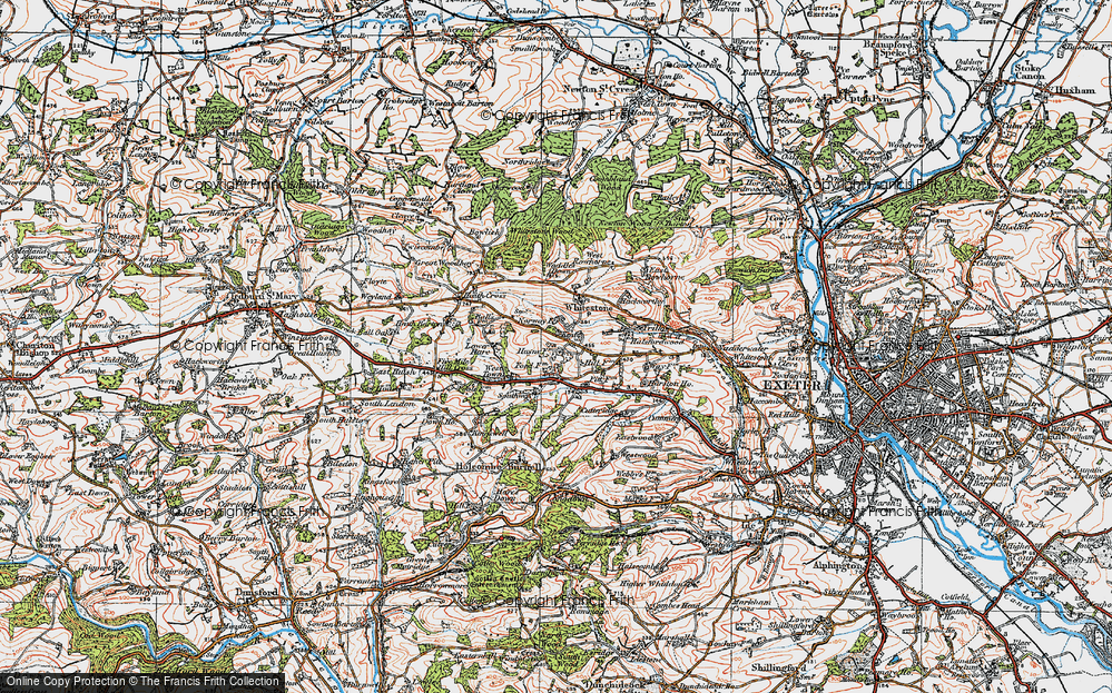 Old Map of Historic Map covering Alphincombe in 1919