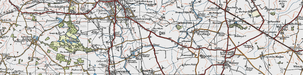 Old map of Whitestone in 1920