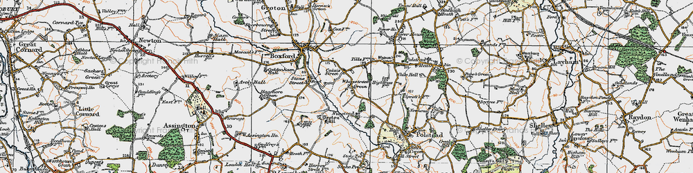 Old map of Whitestreet Green in 1921