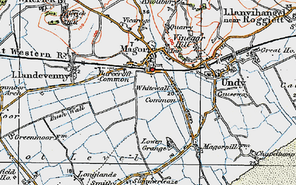 Old map of Whitewall Common in 1919