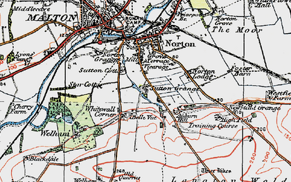 Old map of Leat Ho in 1924