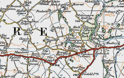 Old map of Whitewell in 1921