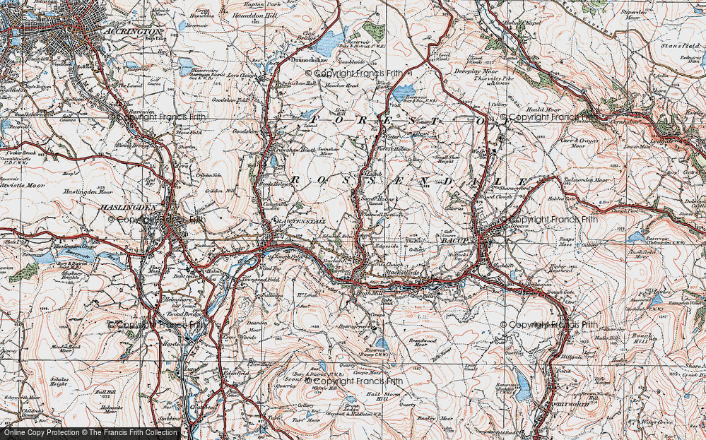 Old Map of Whitewell Bottom, 1924 in 1924