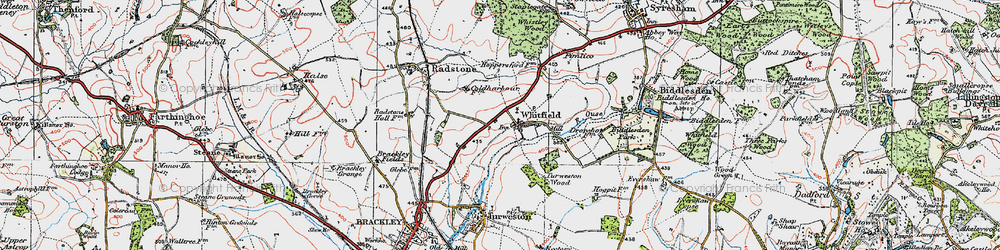 Old map of Whitfield in 1919