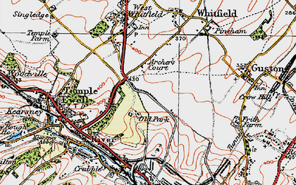 Old map of Whitfield in 1920