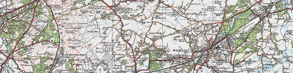 Old map of Whitfield Court in 1920
