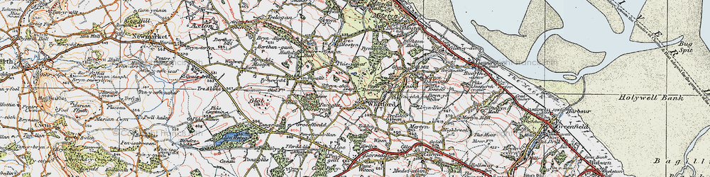 Old map of Whitford in 1924