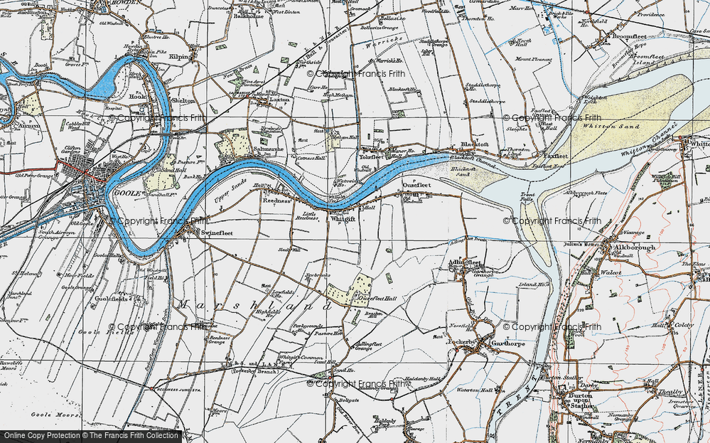 Old Map of Historic Map covering Adlingfleet Grange in 1924