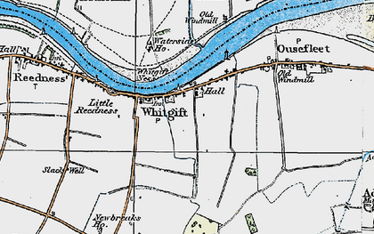 Old map of Adlingfleet Grange in 1924