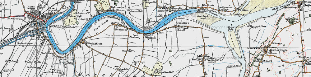 Old map of Whitgift in 1924
