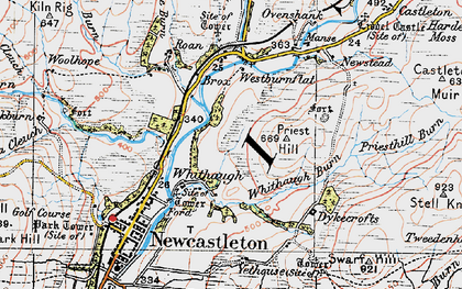Old map of Whithaugh in 1925