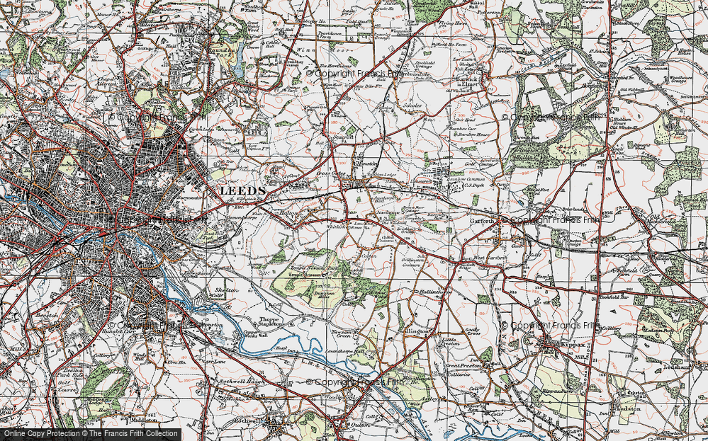 Old Map of Whitkirk, 1925 in 1925