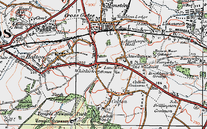 Old map of Whitkirk in 1925