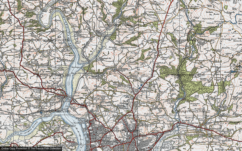 Old Map of Whitleigh, 1919 in 1919