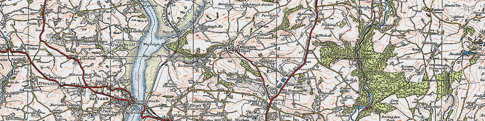 Old map of Whitleigh in 1919