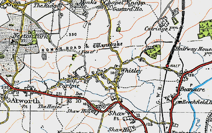 Old map of Whitley in 1919