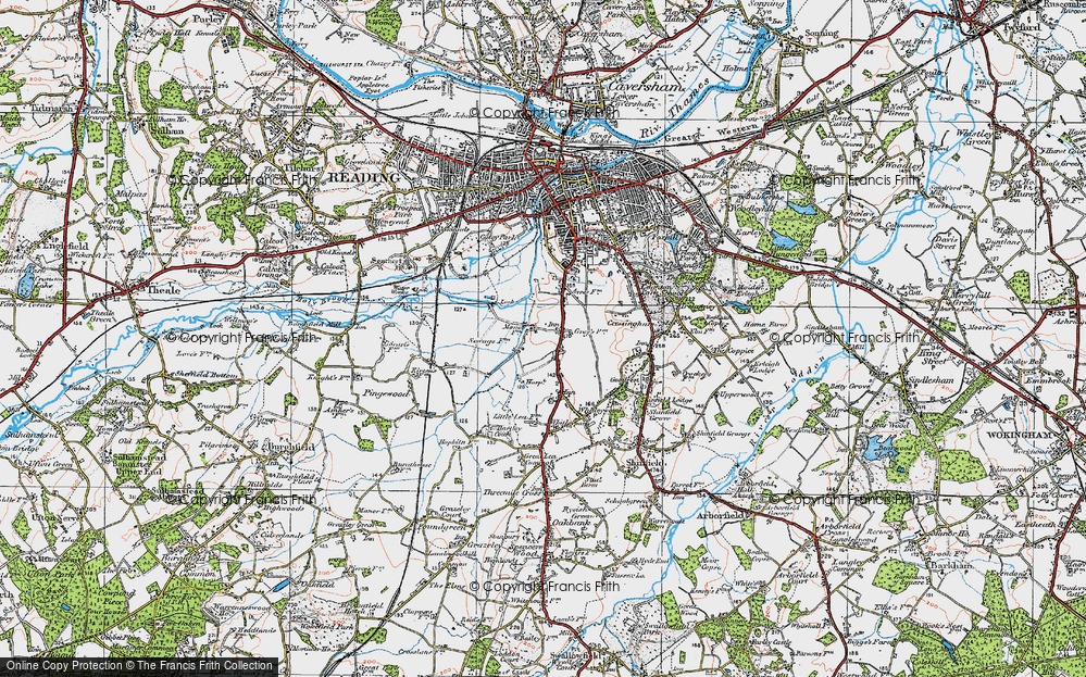 Old Map of Whitley, 1919 in 1919
