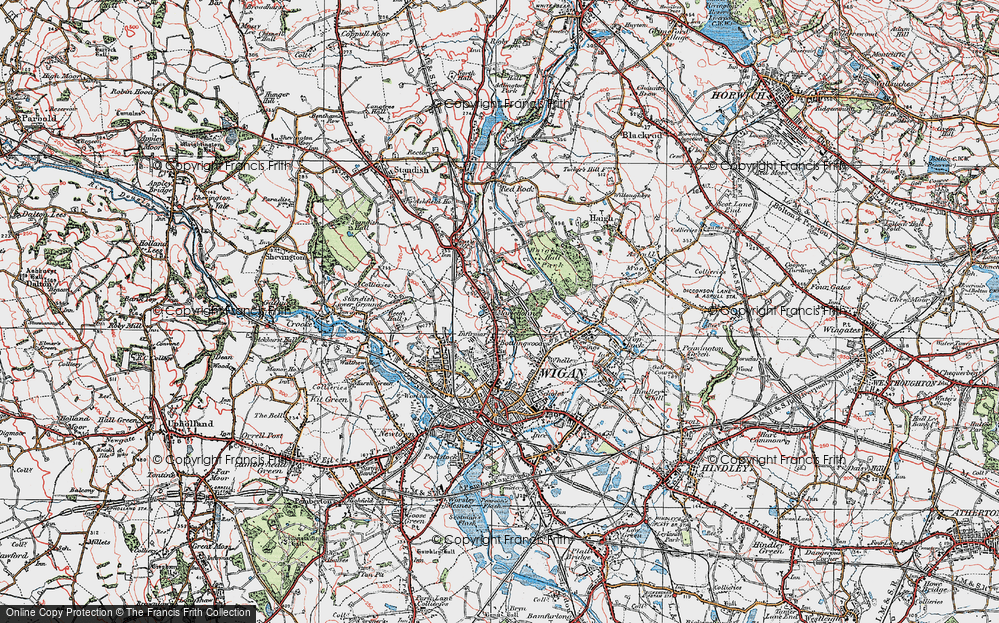 Old Map of Whitley, 1924 in 1924