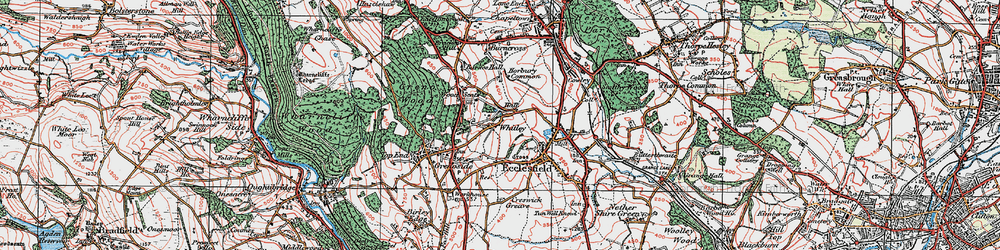 Old map of Whitley in 1924