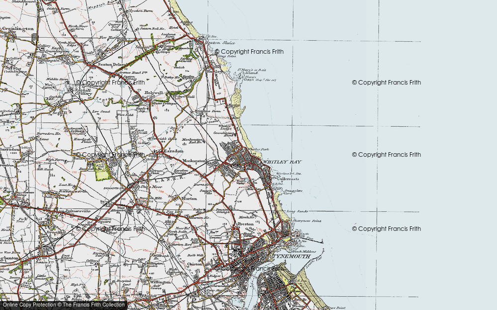 Old Map of Whitley Bay, 1925 in 1925