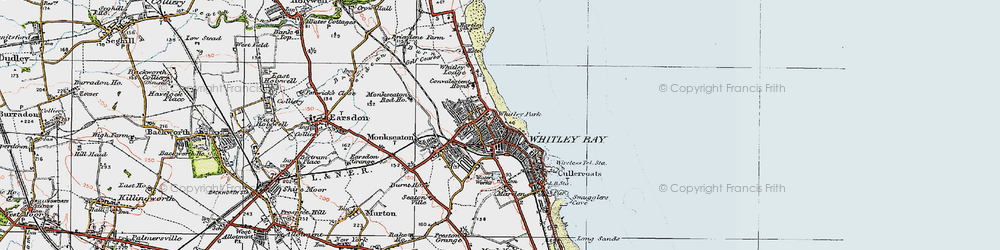 Old map of Whitley Bay in 1925