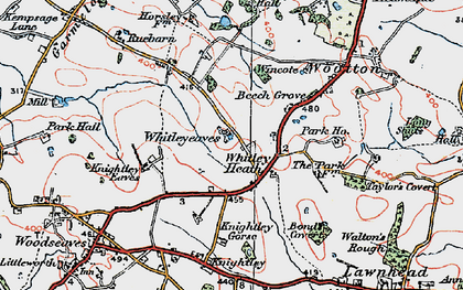 Old map of Whitley Heath in 1921