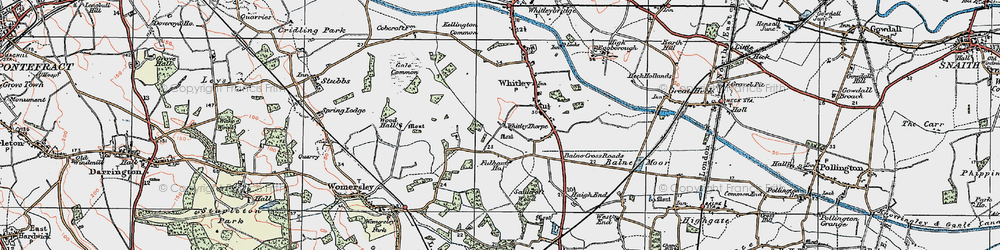Old map of Whitley Thorpe in 1924