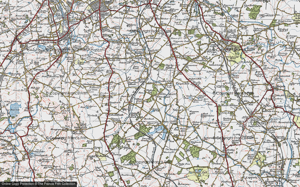 Old Map of Whitlock's End, 1921 in 1921