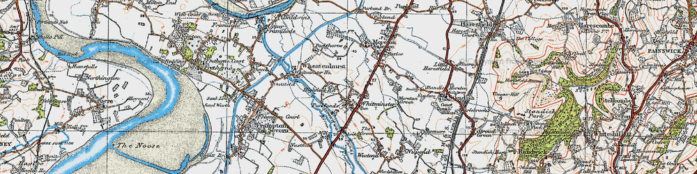 Old map of Whitminster in 1919