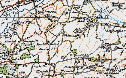 Old map of Whitmoor in 1919