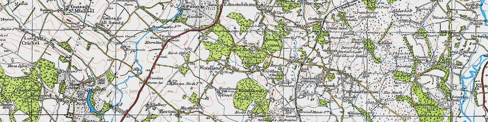 Old map of Whitmore in 1919