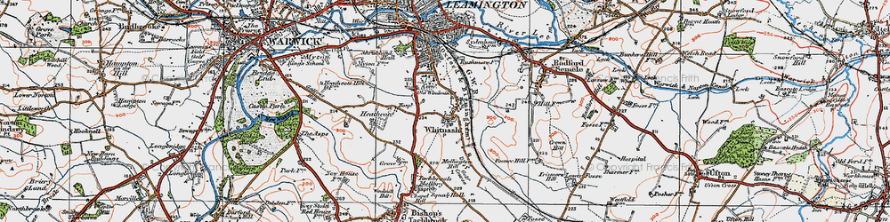 Old map of Whitnash in 1919