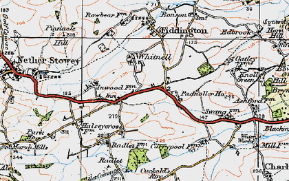 Old map of Whitnell in 1919