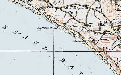 Old map of Whitsand Bay in 1919