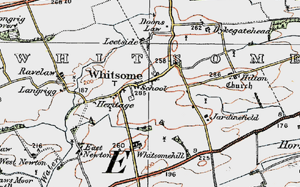 Old map of Whitsome in 1926